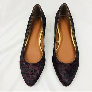 New Banana Republic carina dyed calf hair flats 7